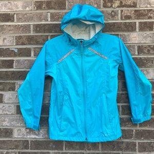 L.L. Bean Trail Model Rain Jacket 10/12 Sky Blue